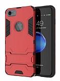 Eiroo Iron Armor iPhone 6 / 6S Standlı Ultra Koruma Kırmızı Kılıf
