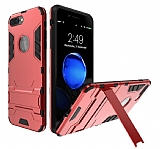 Eiroo Iron Armor iPhone 7 Plus Standlı Ultra Koruma Kırmızı Kılıf