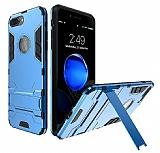 Eiroo Iron Armor iPhone 7 Plus Standlı Ultra Koruma Mavi Kılıf