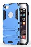 Eiroo Iron Armor iPhone 7 Standlı Ultra Koruma Mavi Kılıf