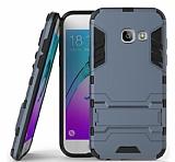 Eiroo Iron Armor Samsung Galaxy A3 2017 Standlı Ultra Koruma Lacivert Kılıf