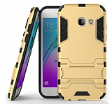 Eiroo Iron Armor Samsung Galaxy A5 2017 Standlı Ultra Koruma Gold Kılıf