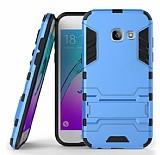Eiroo Iron Armor Samsung Galaxy A5 2017 Standlı Ultra Koruma Mavi Kılıf