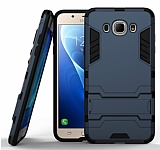 Eiroo Iron Armor Samsung Galaxy J5 2016 Standlı Ultra Koruma Lacivert Kılıf