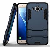 Eiroo Iron Armor Samsung Galaxy J7 2016 Standlı Ultra Koruma Lacivert Kılıf