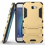 Eiroo Iron Armor Samsung Galaxy J7 Prime Standlı Ultra Koruma Gold Kılıf