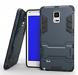 Eiroo Iron Armor Samsung Galaxy Note 4 Standlı Ultra Koruma Lacivert Kılıf