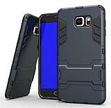 Eiroo Iron Armor Samsung Galaxy Note 5 Standlı Ultra Koruma Lacivert Kılıf