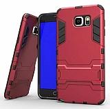 Eiroo Iron Armor Samsung Galaxy Note 5 Standlı Ultra Koruma Kırmızı Kılıf