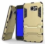 Eiroo Iron Armor Samsung Galaxy Note 5 Standlı Ultra Koruma Gold Kılıf