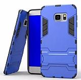 Eiroo Iron Armor Samsung Galaxy S7 Edge Standlı Ultra Koruma Mavi Kılıf
