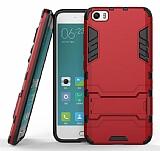 Eiroo Iron Armor Xiaomi Mi 5 Standlı Ultra Koruma Kırmızı Kılıf
