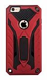 Eiroo Iron Care iPhone 6 / 6S Standlı Ultra Koruma Kırmızı Kılıf