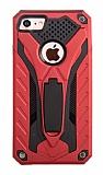 Eiroo Iron Care iPhone 7 Standlı Ultra Koruma Kırmızı Kılıf