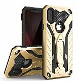 Eiroo Iron Care iPhone XS Max Ultra Koruma Gold Kılıf