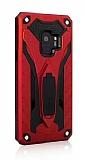 Eiroo Iron Care Samsung Galaxy A6 2018 Ultra Koruma Kırmızı Kılıf