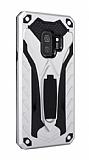Eiroo Iron Care Samsung Galaxy A8 2018 Ultra Koruma Silver Kılıf