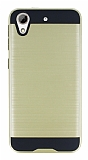 Eiroo Iron Shield HTC Desire 626 Ultra Koruma Gold Kılıf