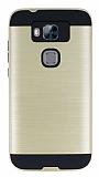 Eiroo Iron Shield Huawei G8 Ultra Koruma Gold Kılıf