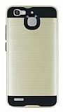Eiroo Iron Shield Huawei GR3 Ultra Koruma Gold Kılıf