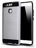 Eiroo Iron Shield Huawei P Smart Ultra Koruma Silver Kılıf