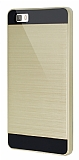 Eiroo Iron Shield Huawei P8 Lite Ultra Koruma Gold Kılıf