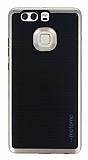 Motomo Huawei P9 Gold Kenarlı Siyah Silikon Kılıf