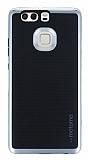 Motomo Huawei P9 Silver Kenarlı Siyah Silikon Kılıf