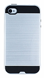 Eiroo Iron Shield iPhone 4 / 4S Ultra Koruma Silver K�l�f