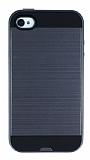 Eiroo Iron Shield iPhone 4 / 4S Ultra Koruma Dark Silver K�l�f