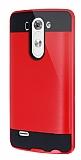 Eiroo Iron Shield LG G3 S / G3 Beat Ultra Koruma Kırmızı Kılıf