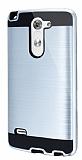 Eiroo Iron Shield LG G3 Stylus Ultra Koruma Silver K�l�f