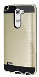 Eiroo Iron Shield LG G3 Stylus Ultra Koruma Gold K�l�f