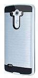 Eiroo Iron Shield LG G3 Ultra Koruma Silver Kılıf