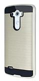 Eiroo Iron Shield LG G3 Ultra Koruma Gold Kılıf