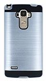 Eiroo Iron Shield LG G4 Stylus Ultra Koruma Silver Kılıf