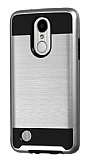Eiroo Iron Shield LG K10 2017 Ultra Koruma Silver Kılıf