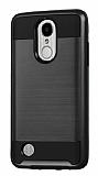 Eiroo Iron Shield LG K10 2017 Ultra Koruma Siyah Kılıf
