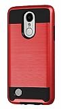 Eiroo Iron Shield LG K10 2017 Ultra Koruma Kırmızı Kılıf