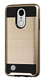 Eiroo Iron Shield LG K10 2017 Ultra Koruma Gold Kılıf