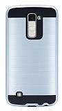 Eiroo Iron Shield LG K10 Ultra Koruma Silver Kılıf