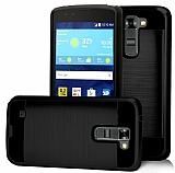 Eiroo Iron Shield LG K10 Ultra Koruma Siyah Kılıf