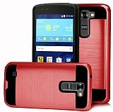 Eiroo Iron Shield LG K10 Ultra Koruma Kırmızı Kılıf