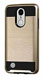 Eiroo Iron Shield LG K8 2017 Ultra Koruma Gold Kılıf