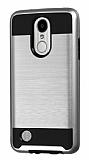 Eiroo Iron Shield LG K8 2017 Ultra Koruma Silver Kılıf