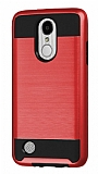 Eiroo Iron Shield LG K8 2017 Ultra Koruma Kırmızı Kılıf