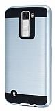 Eiroo Iron Shield LG K8 Ultra Koruma Silver Kılıf