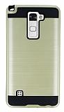Eiroo Iron Shield LG Stylus 2 Ultra Koruma Gold Kılıf
