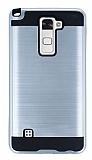 Eiroo Iron Shield LG Stylus 2 / Stylus 2 Plus Ultra Koruma Silver Kılıf