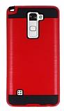 Eiroo Iron Shield LG Stylus 2 Ultra Koruma Kırmızı Kılıf
